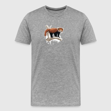 Red Panda Warter Color Shirt - Men's Premium T-Shirt