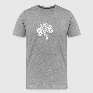 Celtic Shamrock White - Men's Premium T-Shirt