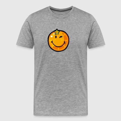 SmileyWorld Juicy Orange - Men's Premium T-Shirt