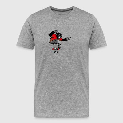 T shirt monkey skateboarder streetwear vector cool - Men's Premium T-Shirt