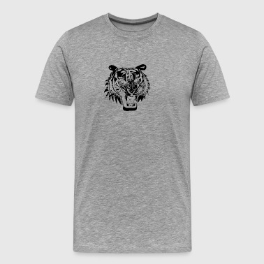 angry_tiger_head_black - Men's Premium T-Shirt