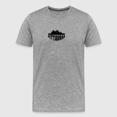 Pittsburgh PA Cityscape Skyline - Men's Premium T-Shirt