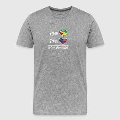 50% Guyanese 50% American 100% Beautiful - Men's Premium T-Shirt