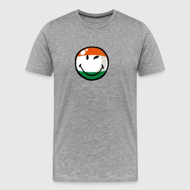 SmileyWorld Indian Flag Smiley - Men's Premium T-Shirt