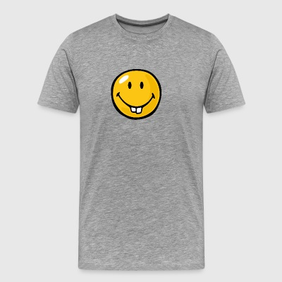 SmileyWorld Buck Toothed Smiley - Men's Premium T-Shirt