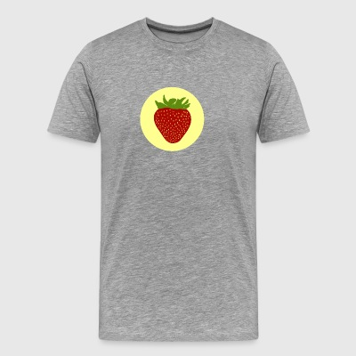 Strawberry Illustration - Men's Premium T-Shirt