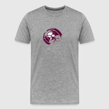 single_eye_purple_monster_in_the_air - Men's Premium T-Shirt