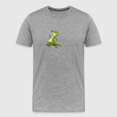 crocodile athletic running animal wildlife - Men's Premium T-Shirt