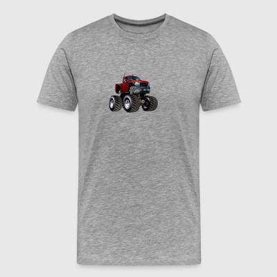 Cool Jeep SUV Monster Truck car vector cartoon art - Men's Premium T-Shirt