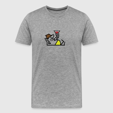 A Tourist Sitting By The Pool With A Cocktail - Men's Premium T-Shirt