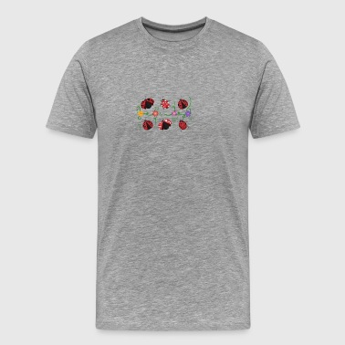 Ladybirds and flowers - Men's Premium T-Shirt
