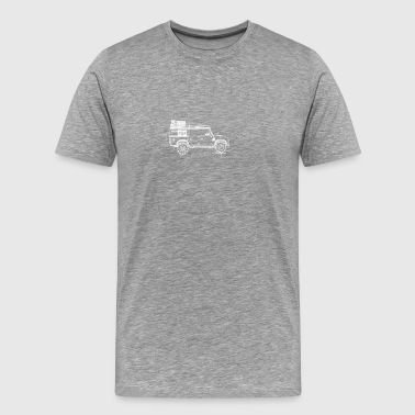 Defender 110 rough - Blueprint - Men's Premium T-Shirt