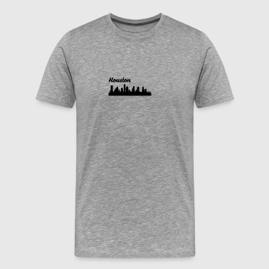 Houston TX Skyline - Men's Premium T-Shirt