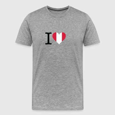 I Love Peru - Men's Premium T-Shirt