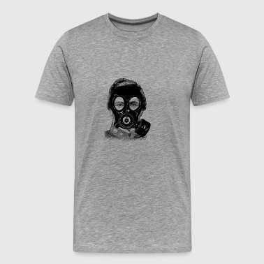Gas mask Man - Men's Premium T-Shirt