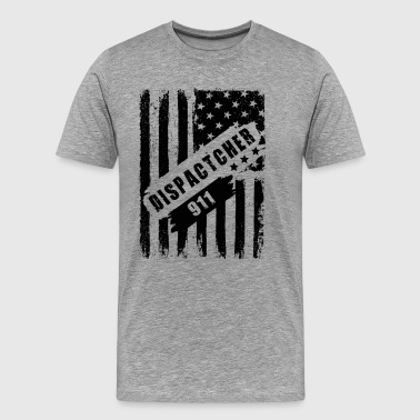 911 Dispatcher Flag American Shirt - Men's Premium T-Shirt
