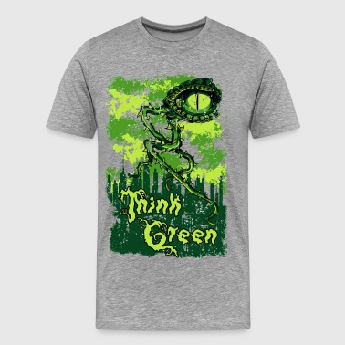 THINK GREEN all eyes on you save our nature - Men's Premium T-Shirt