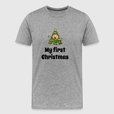 My First Christmas Funny Baby T Shirt - Men's Premium T-Shirt