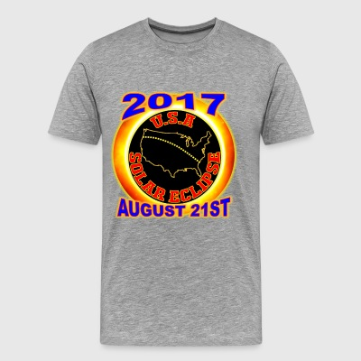 2017 USA Total Solar Eclipse Star Gaze August 21st - Men's Premium T-Shirt