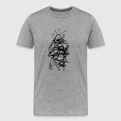 burning monk - Men's Premium T-Shirt