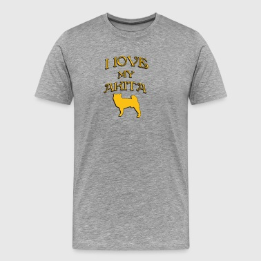 I love my dog AKITA - Men's Premium T-Shirt