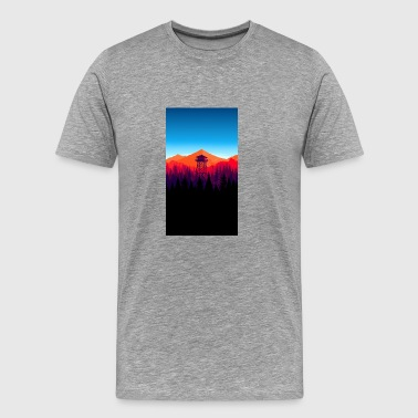 watch tower - Men's Premium T-Shirt