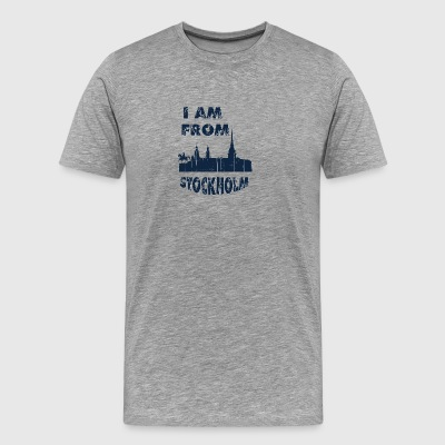 STOCKHOLM I am from - Men's Premium T-Shirt