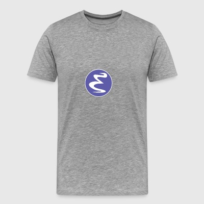 GNU Emacs text editor icon logo - Men's Premium T-Shirt