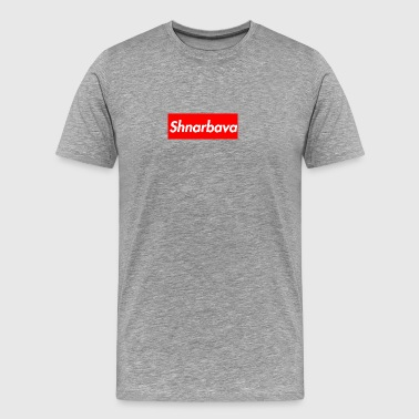 Shnarbava Box Logo - Men's Premium T-Shirt