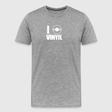 I Heart Love Vinyl - Men's Premium T-Shirt