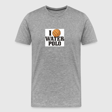 I love Water Polo - Men's Premium T-Shirt