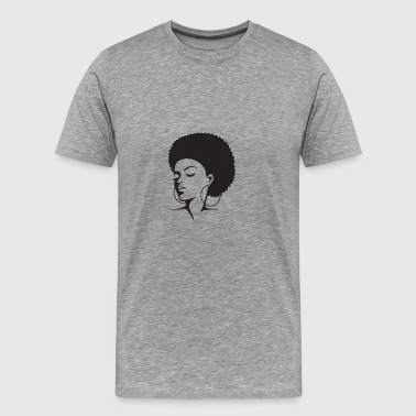 Black African American Beautiful Woman - Men's Premium T-Shirt