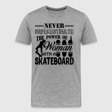 Woman With A Skateboard Shirt - Men's Premium T-Shirt