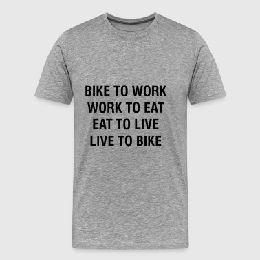 BIKE TO BIKE GRANDE SEMfu - Men's Premium T-Shirt