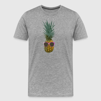Colorfull Pineapple Pink Sunglasses > Funny Fruits - Men's Premium T-Shirt
