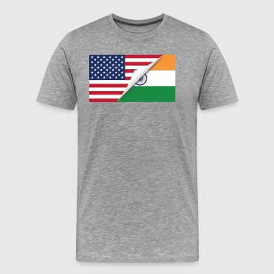 Half American Half Indian Flag - Men's Premium T-Shirt