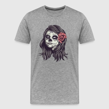 mexican girl skull - Men's Premium T-Shirt