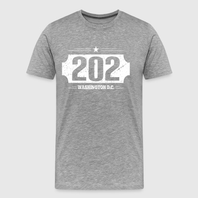 202 Washington D.C. area code - T-Shirt - Men's Premium T-Shirt