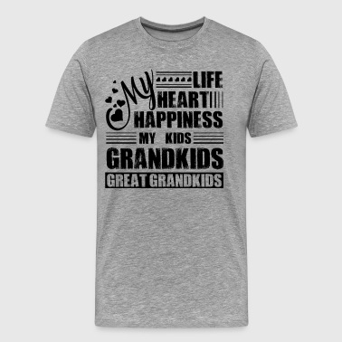 My Grandkids My Life My Heart My Happiness Shirt - Men's Premium T-Shirt