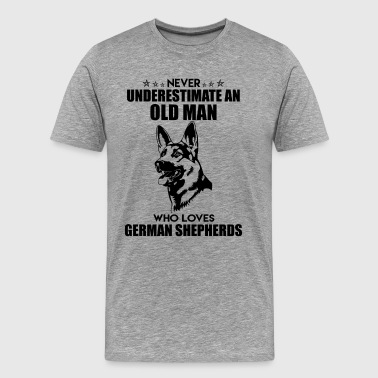 Old man Who Loves German Shepherds Shirt - Men's Premium T-Shirt