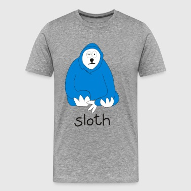 SLOTH Funny Cute Animal Parody - Men's Premium T-Shirt