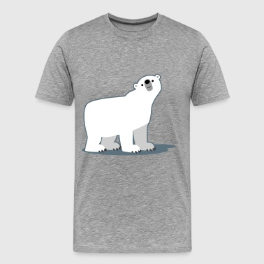 Cute Curious Polar Bear by Cheerful Madness!! - Men's Premium T-Shirt