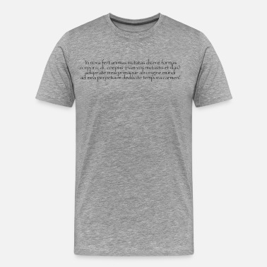 One Word Poetry Ovid's Metamorphoses, opening lines.  - Men's Premium T-Shirt