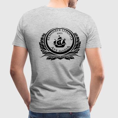 REMEMBER LEPANTO - 1571 - AVE MARIA - Men's Premium T-Shirt