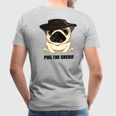 Pug Dog the Sheriff - Men's Premium T-Shirt