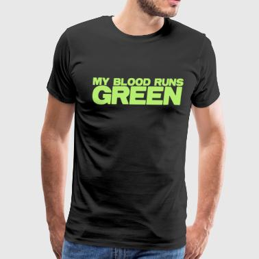 MY blood runs green - Men's Premium T-Shirt