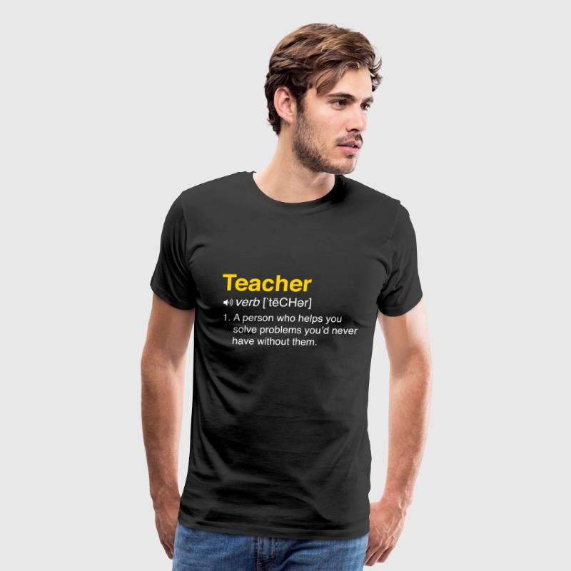 Funny Teacher Definition for Students - Men's Premium T-Shirt
