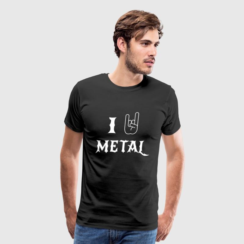 I love metal - Men's Premium T-Shirt