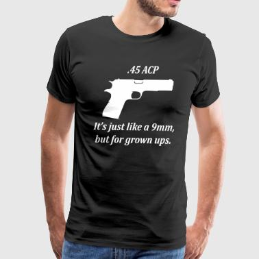 45 vs 9mm - Men's Premium T-Shirt