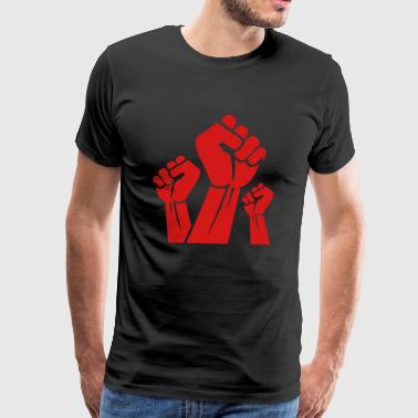 Fight the power red fist - Men's Premium T-Shirt